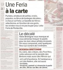 La Gazette de Nîmes du 21 mai 2015